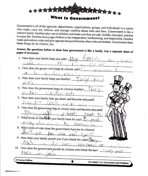 Govt-worksheet
